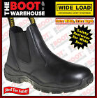 "Wide Load 'Pull-On' Orthotic, Steel Cap Safety, EXTRA WIDE, 6"" Work Boots."