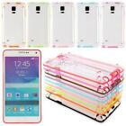 Glow In the Dark Colored Bumper Clear Hard Case Cover For Samsung Galaxy Note 4
