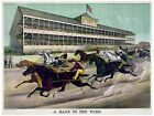High Quality POSTER on Paper or Cotton Canvas.Decor Art.Horse Race to Wire.4150