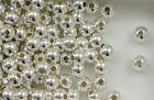 Sterling Silver Beads,  7mm Seamless Round Design, New