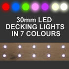 10 x 30mm LED Deck/Decking/Plinth/Kickboard/Recessed Kitchen/Garden Lights Kit