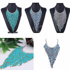 Fashion New Women Bohemian Fringe Tassel Beads Choker Bib Chunky Necklace Chain