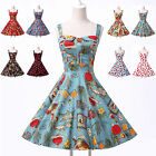 Ladies 40's 50's Vintage Style Rockabilly Shirt Style Swing Jive Dress S M L XL
