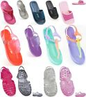 FLIP FLOPS SANDALS MULES POOLSIDE JELLY SHOES SPORT BEACH GIRLS BOYS SIZES 6-5