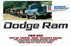 """QG-340 1977-84 DODGE RAM TRUCK TAILGATE NAME DECAL - 33"""" LONG - LICENSED"""