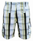 Soul Star Men's Twill 211 Combat Cargo Casual Check Shorts yellow/brown 1876