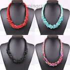 Women Chic Ethnic style Choker Bib Rock particles Statement Jewerly Necklace