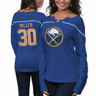 Reebok Ryan Miller Buffalo Sabres Womens Fan Diva Jersey Shirt Royal Blue