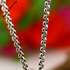 925 Mens Ladies Chunky Sterling Silver Belcher Link Chain Necklace 20 22 24 Inch