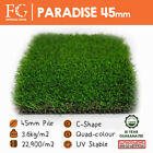 45mm Paradise - Artificial Grass Fake Lawn Turf - EU Made - FREE Delivery!