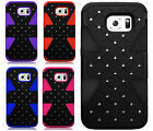 For Samsung Galaxy S6 HYBRID IMPACT TUFF Diamond Case Phone Cover Accessory