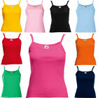 Fruit Of The Loom Lady Fit Strap T-Shirt.  Fitted Summer Plain Vest Top (61024)