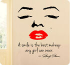 A Smile Is Best Makeup Any Girl Can Wear Marilyn Monroe Wall Decal Quote Sticker