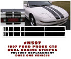 N597 1997 FORD PROBE - GTS DUAL RACING STRIPES - FACTORY REPLACEMENT