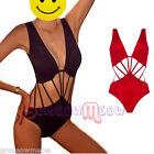 Womens Sexy One Piece Strappy Swimsuit Backless Beach Bathing Swimwear