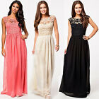 Long Lace Party Dress Bridesmaid Cocktail Gown Evening Prom Bohemia Maxi Dresses