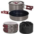 Trespass Non Stick Camping Pot Set Includes Frying Pan with Lid and Pot