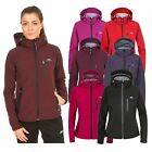 Trespass Bela Womens Soft Shell Jacket Breathable in Black & Purple