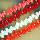 """5x9mm Coral Teardrop Beads 16"""" Pick Color"""