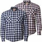 Tokyo Laundry New Men's Long Sleeve Cotton Check Shirt Padded Quilt Lined