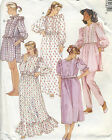 Vintage 80s Misses Robe Nightgown Pajamas Nightshirt Sewing Pattern Ruffle 4548