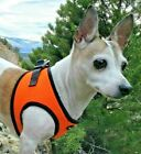 Orange Dog Harness - Step In No Choke Mesh EZ Wrap Harness Bark Appeal Up to 29""
