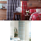 Catherine Lansfield Kelso Tartan Check Pencil Pleat Lined Curtains, 66 x 72 Inch