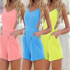 HOT New Summer Sexy Women Celeb Backless Playsuit Jumpsuit Romper  Beach Shorts