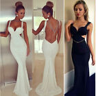 New Mermaid Trumpet Wedding Dress Formal Prom Party Ball Evening Pageant Gown~S~