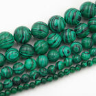 "Synthetic Malachite Gemstone Round Beads 15.5"" 4mm 6mm 8mm 10mm 12mm"