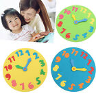 Foam Number Puzzle Clock 18cm Early Learning Time Jigsaw Assorted Kid Child Toy