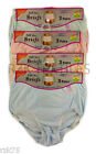 6 Pack Ladies Embroidered Full Briefs, Comfort Fit Maxi Underwear, Size 10-34