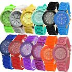 Classic Unisex Jelly Gel Silicone Rubber Belt Analog Quartz WristWatch Watch NEW