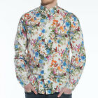 Mens Linbergh Long Sleeve Sleeve Flower Shirt
