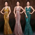 2015 Mermaid GK Sequins Cocktail Prom Bridesmaid Long Evening Party Dress Formal