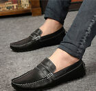 Leather Sneakers Mens Slip On flat Loafers Driving Casual Oxfords Fashion Shoes