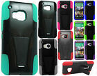 For HTC One M9 Advanced HYBRID KICK STAND Rubber Case Phone Cover Accessory