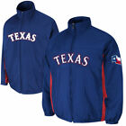 Majestic Texas Rangers 2014 On-Field Triple Climate 2-In-1 Jacket - Blue