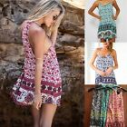 New Women Summer Casual Elephant Print Lady Party Evening Beach Girl Mini Dress