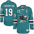 Mens San Jose Sharks Joe Thornton Reebok Teal Home Premier Jersey