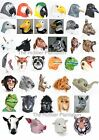 Latex Animal Mask Fancy Dress Halloween Zoo Jungle Bird Forrest Safari Farm Wild