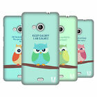 HEAD CASE DESIGNS MEAN OWLS HARD BACK CASE FOR NOKIA LUMIA 535