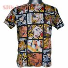 Cartoon Comic Strip Drowning Girl POSTER MODERN POP ART PRINT MENS T SHIRT TOP *