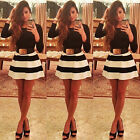 Women Bandage Bodycon Long Sleeve Evening Sexy Party Cocktail Mini Dress US1 JB