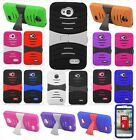 LG Ultimate 2 L41C Hard Gel Rubber KICKSTAND Case Phone Cover +Screen Protector