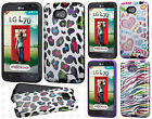 LG Ultimate 2 L41C TPU HARD Hybrid TPU CANDY Gel Skin Case Cover +Screen Guard