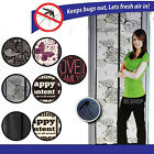 Magnetic Magic Mesh Door Curtain Snap Net Guard Mosquito Fly Bug Insect Screen