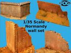 1/35 Scale  - Normandy wall set - pack of 4 wall sections