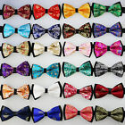 Yibei Ties Polyester Paisley Florals Butterfly Adult Bowtie Tuxedo Bow tie