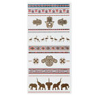 New Metallic Temporary Flash Tattoo Body Makeup Sticker Gold Silver 21 Styles on Rummage
